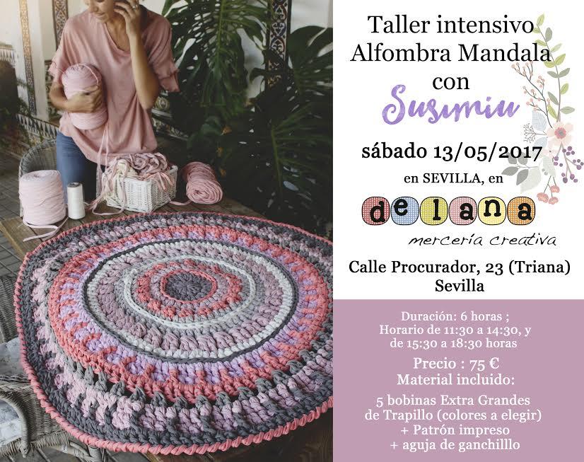 Taller alfombra Mandala con Susimiu - Delana
