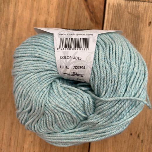 Algodón Just Cotton Lanas Alpaca - a015-aguamarine
