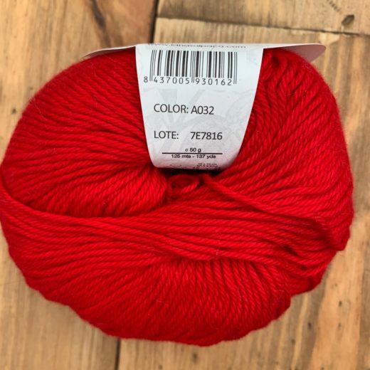 Algodón Just Cotton Lanas Alpaca - a032-rojo