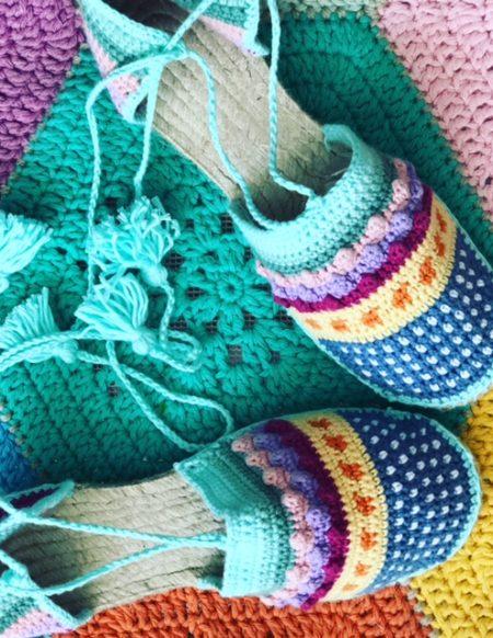 patron alpargatas de crochet