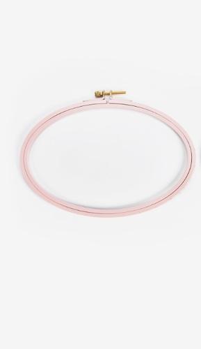 Bastidor pintado flores DMC - ovalado-8x15-rosa