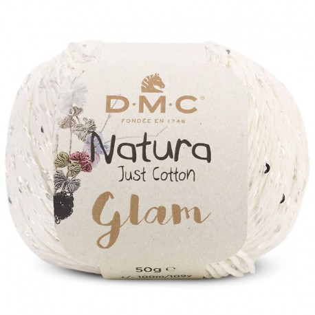 Natura Just Cotton Glam de DMC - 02-blanco