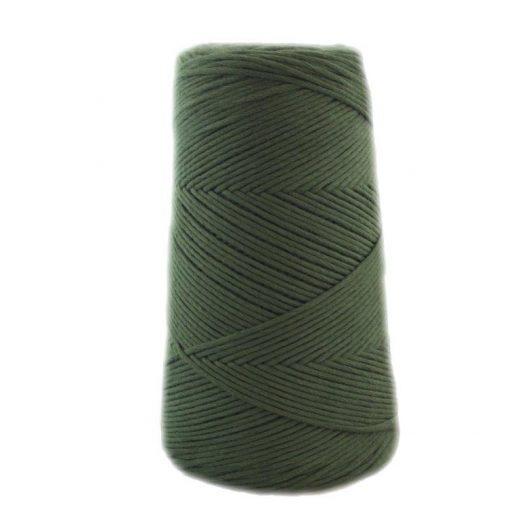 Conos de algodón peinado L (fino) - 1810-verde-botella