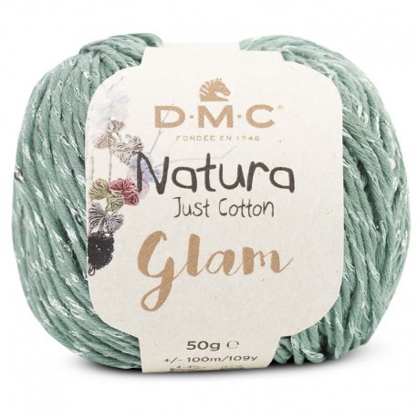 Natura Just Cotton Glam de DMC - 20-verde-menta