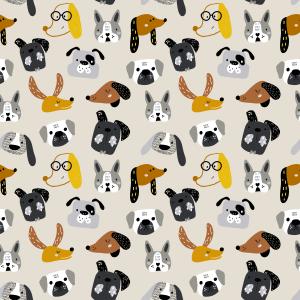 Telas Fabrics - perro-salchicha-caritas-algodon