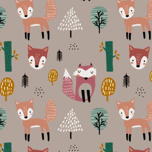 Telas Fabrics - forest-fox-jersey