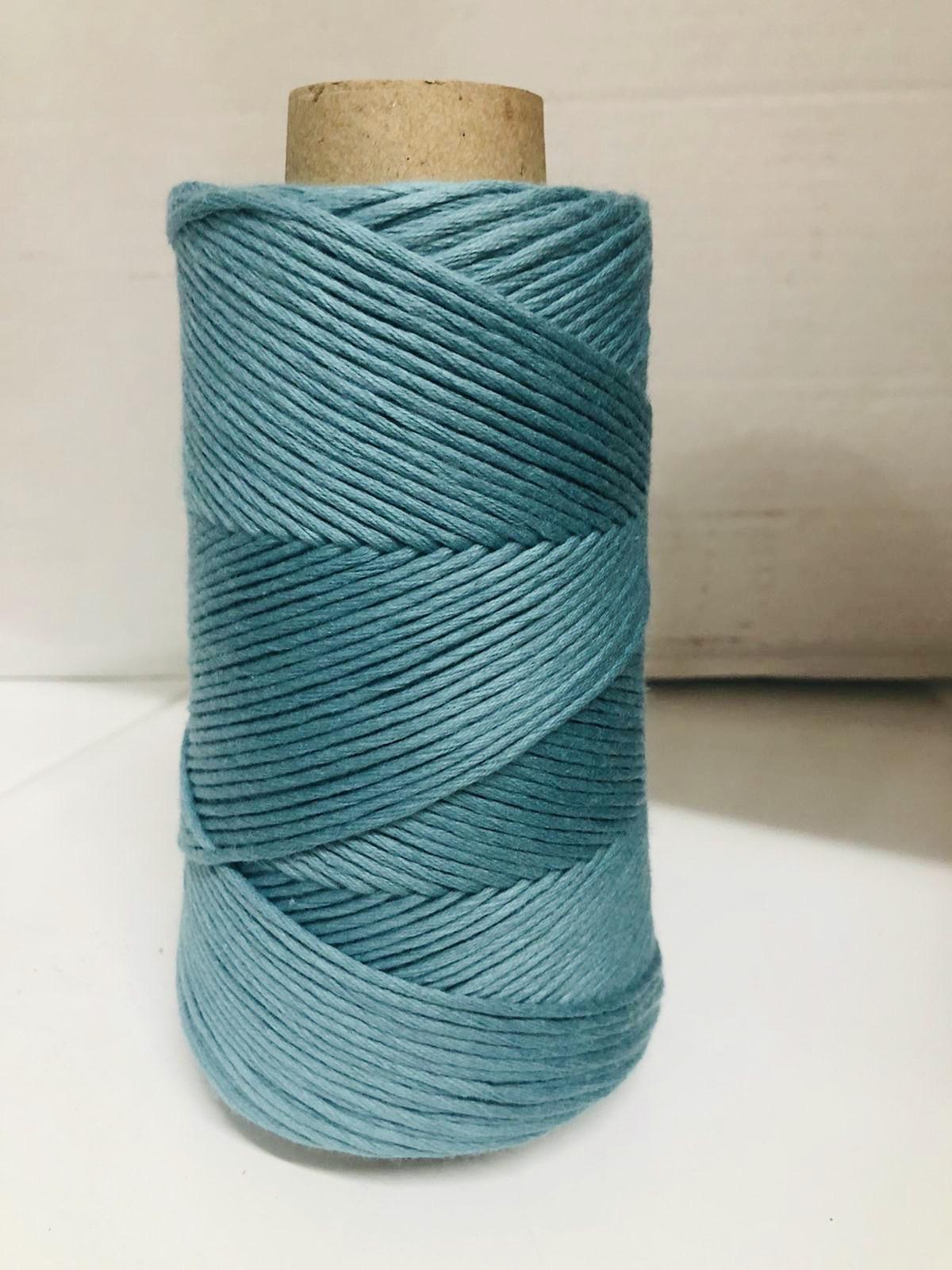 Conos de algodón peinado L (fino) - verde-jade