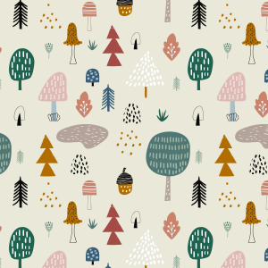 Telas Fabrics - forest-wood-jersey
