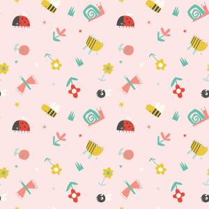Telas Fabrics - springtime-rosa-algodon