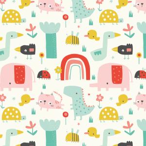 Telas Fabrics - springtime-blanca-algodon