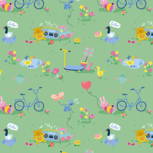Telas Fabrics - fun-in-the-park-cotton