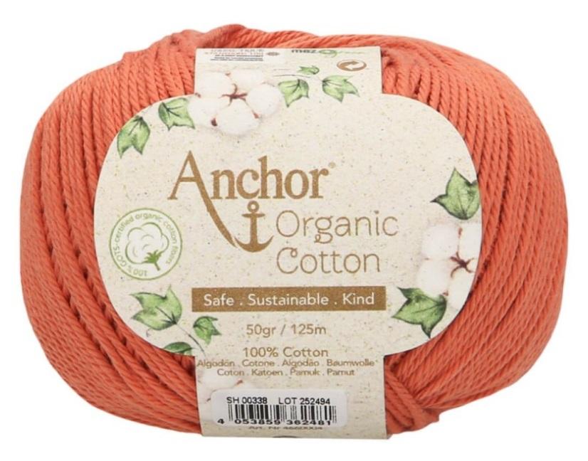 ANCHOR ORGANIC COTTON - 338-coral-sorbet