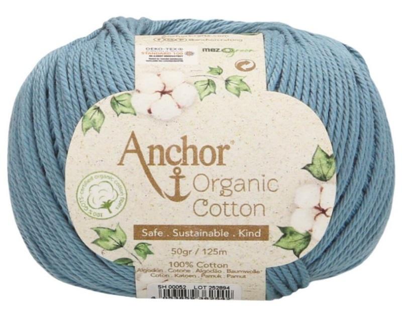 ANCHOR ORGANIC COTTON - 52-azul-plomo
