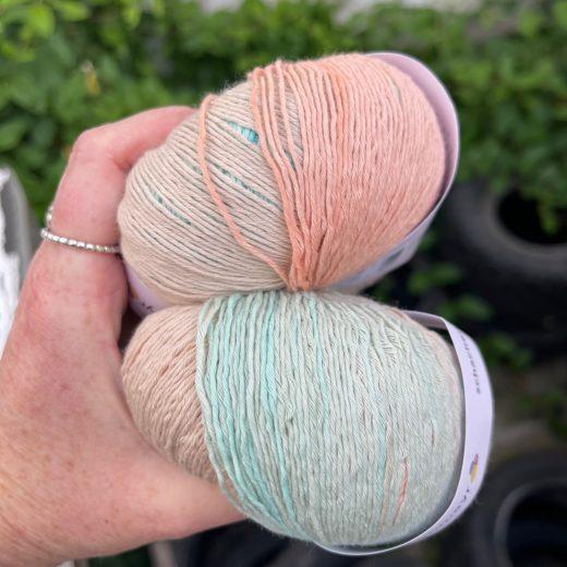 Tahiti Schachenmayr - 7626-menta-beige-coral